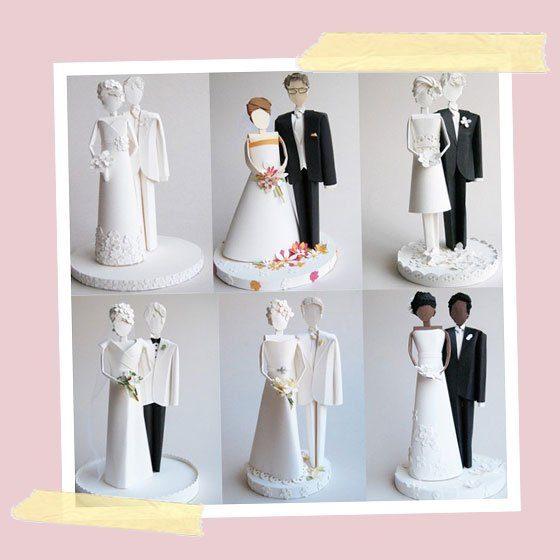 Oben Auf Der Torte Figuren Fur Die Hochzeitstorte Fraulein K