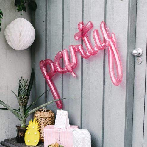 Ballon Party pink