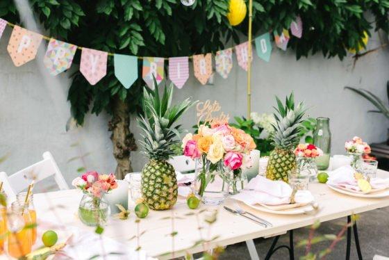 Dekoration tropical Party