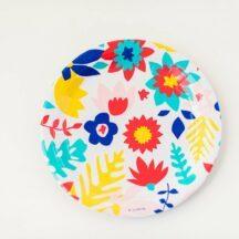 Tropical Flowers Teller Becher Serviette-6