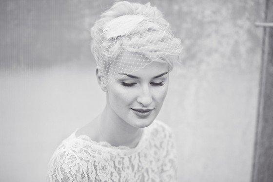 Braut + kurze Haare – we like!