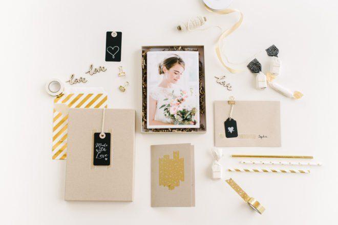Verpackung Fotos Hochzeit