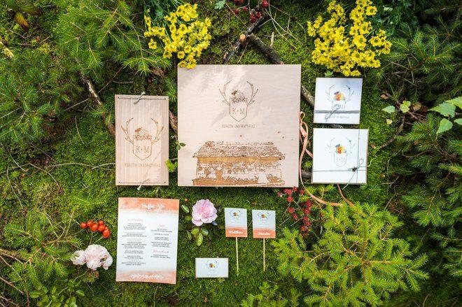 Wald und Jagt Papeterie Hochzeit