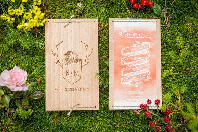 Wald und Jagt Papeterie Hochzeit3