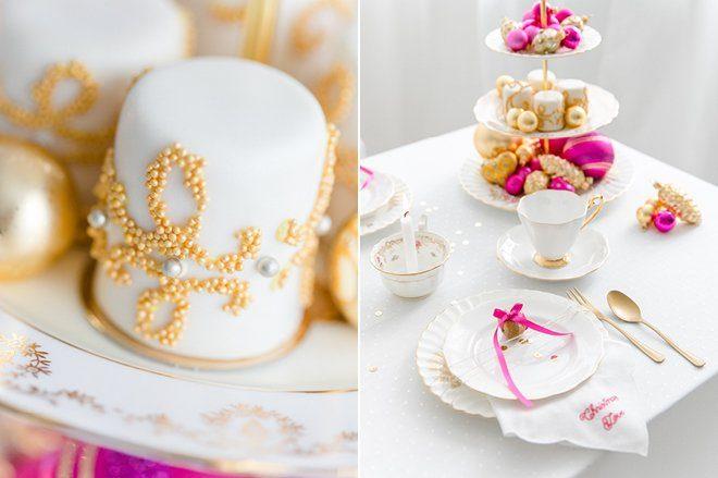 Weihnachten 2015 Dekoration gold lila pink6