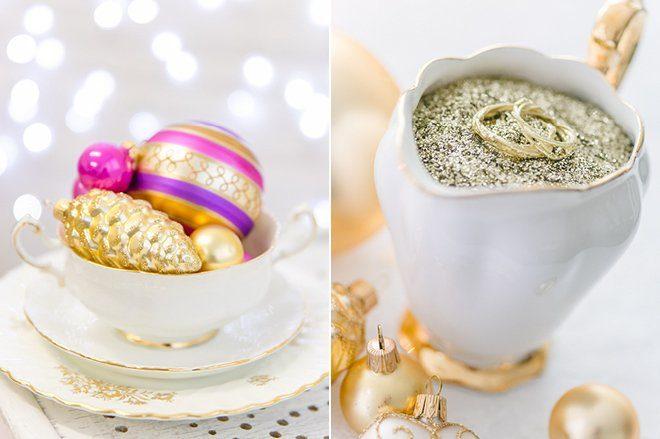 Weihnachten 2015 Dekoration gold lila pink8
