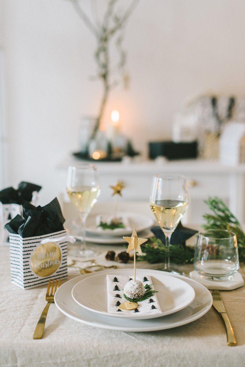 Tischdekoration natürlich skandinavisch