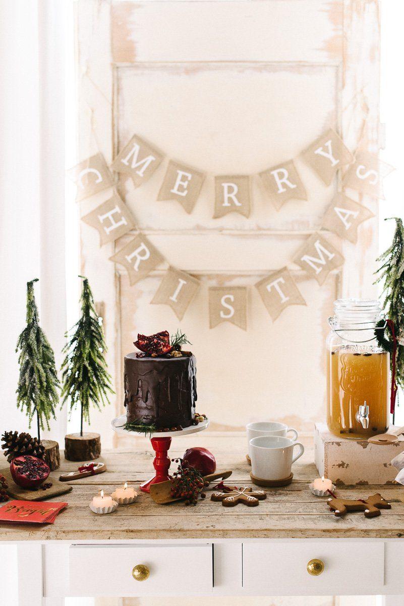 Natürlich, gemütlich, Rot - eine traditionelle und doch moderne Weihnachtsdeko - besinnlich gemütliche Weihnachten feiern
