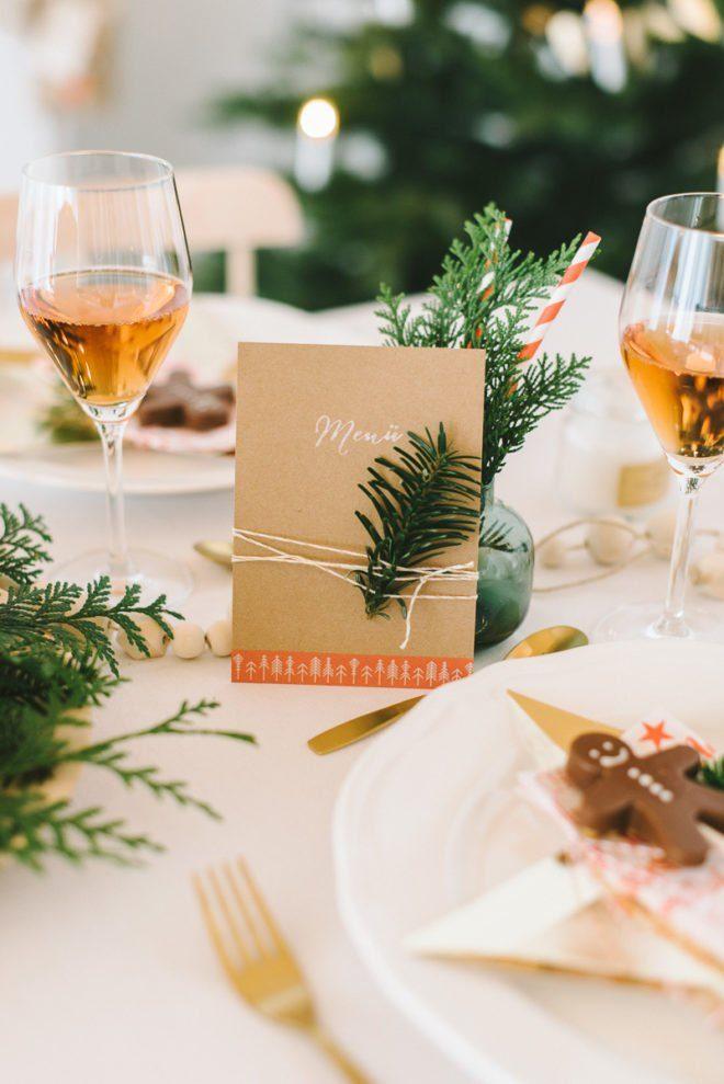 DIY Anleitung Menü Karte Weihnachten