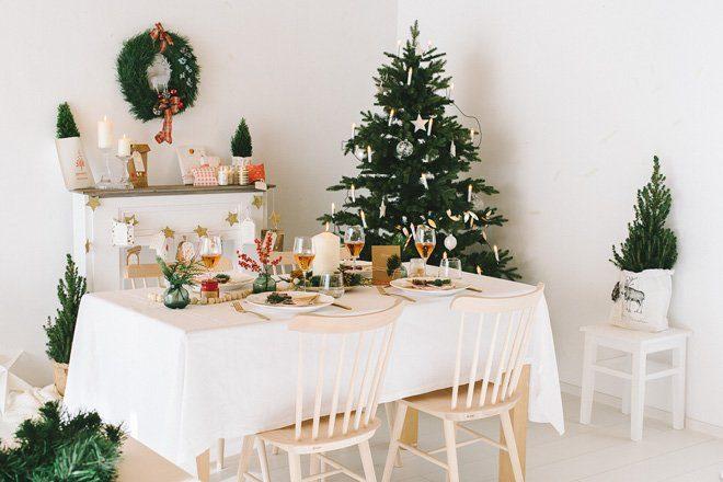 Inspiration gem tlich nat rliche dekoration f r euren weihnachtstisch fr ulein k sagt ja - Weihnachtstisch dekorieren ...