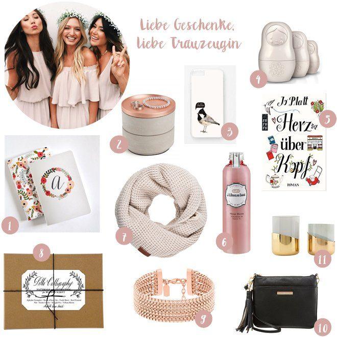Weihnachtsgeschenke Ideen für Trauzeugin und beste Freundin