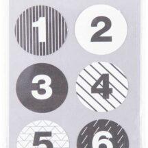 Adventskalenderzahlen, Sticker von 1-24, Farben schwarz-weiß