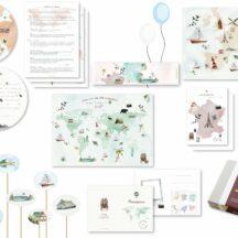 Geburtstagsbox zum Thema Weltreise, für 10 Kinder
