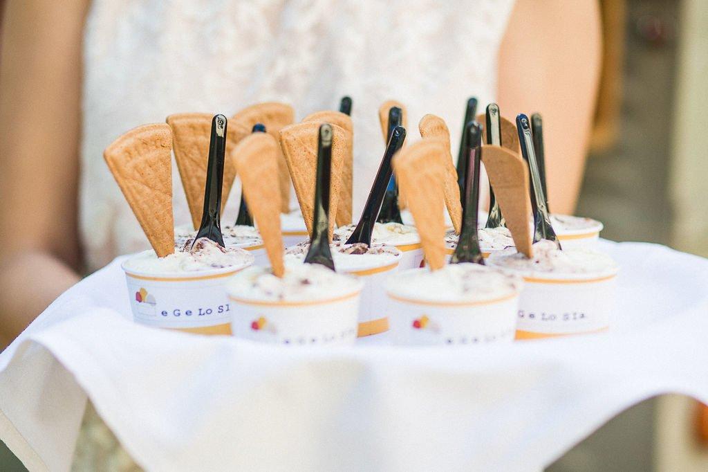 Eis für die Hochzeitsgäste