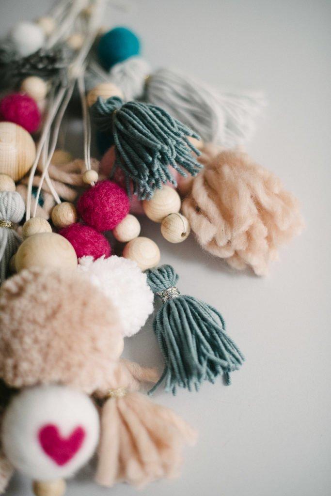 Tassel und Pompoms aus Wolle
