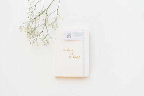 Notizbuch für die Hochzeit
