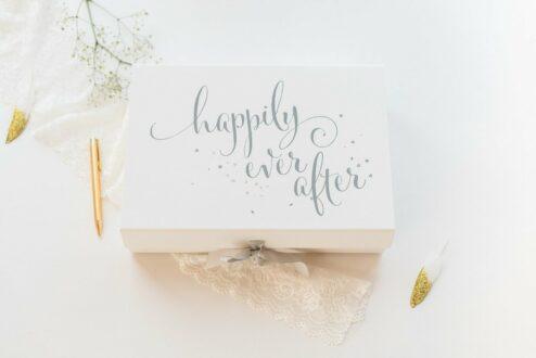 Erinnerungsbox für die Hochzeit