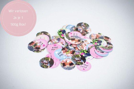 Hurra! Gewinnt Euer persönliches Foto Confetti mit confetti your life