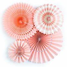 Faltrosetten Papierfächer Koralle Peach Blush