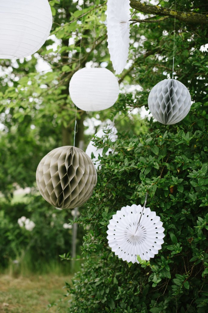 Wabenball Lampion Outdoor Party