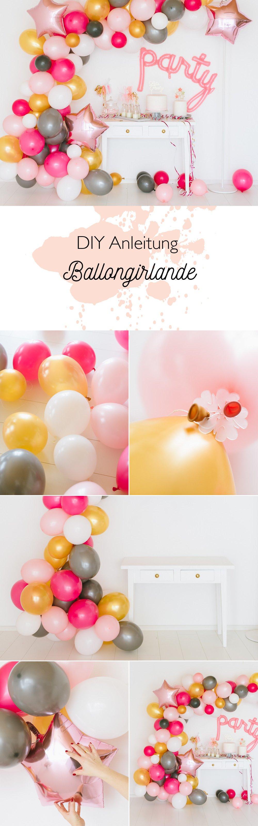 Anleitung DIY Luftballon Girlande