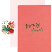 Diy Weihnachtskarte mit Konfetti zum Einstreuen