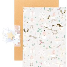 Diy Weihnachtskarte, Karte, Umschlag, Konfetti, Sticker