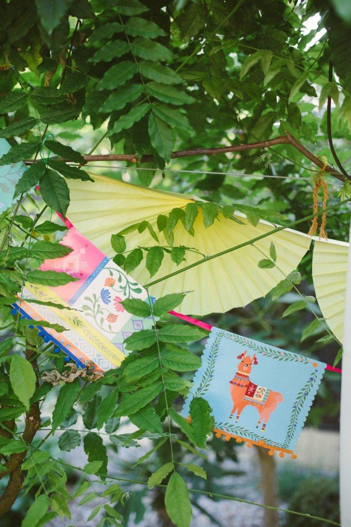 Dekoration mexikanische Fiesta Party im Garten
