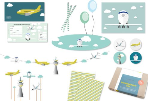 Kindergeburtstagsdekoration Thema Flugzeuge