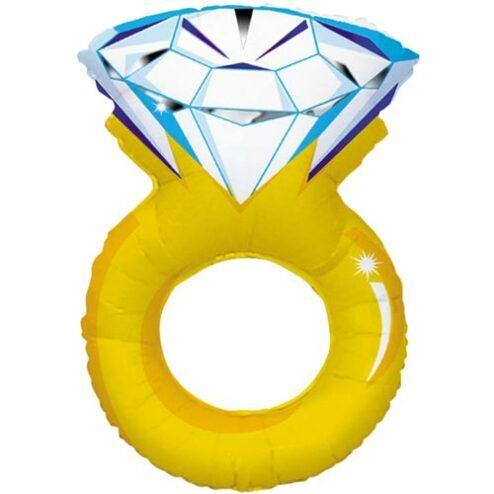Folienballon in Form eines Diamantrings