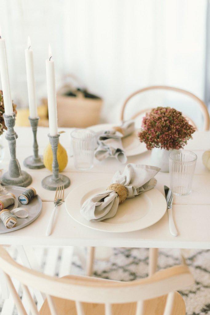Tischdekoration Kürbis
