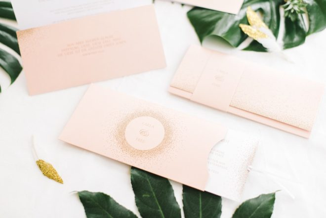 Hochzeit Einladung weiss rosa