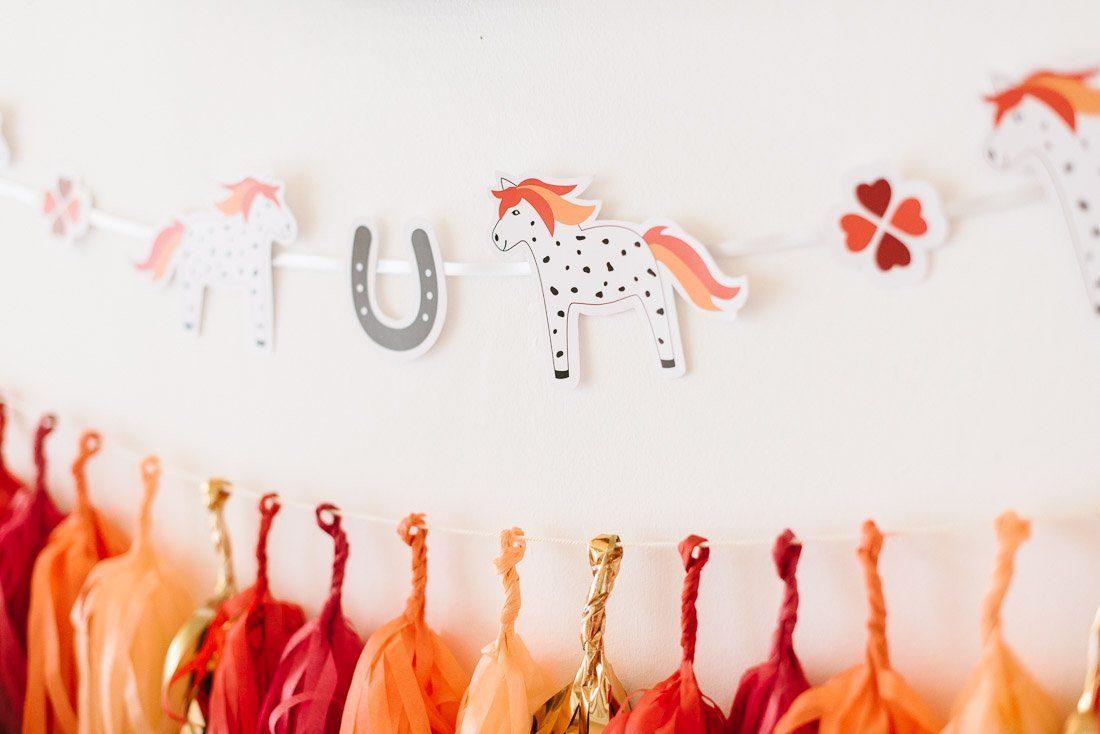 Pferdegeburtstag feiern - Geburtstagsbox für Kindergeburtstag mit Pferden und Ponys