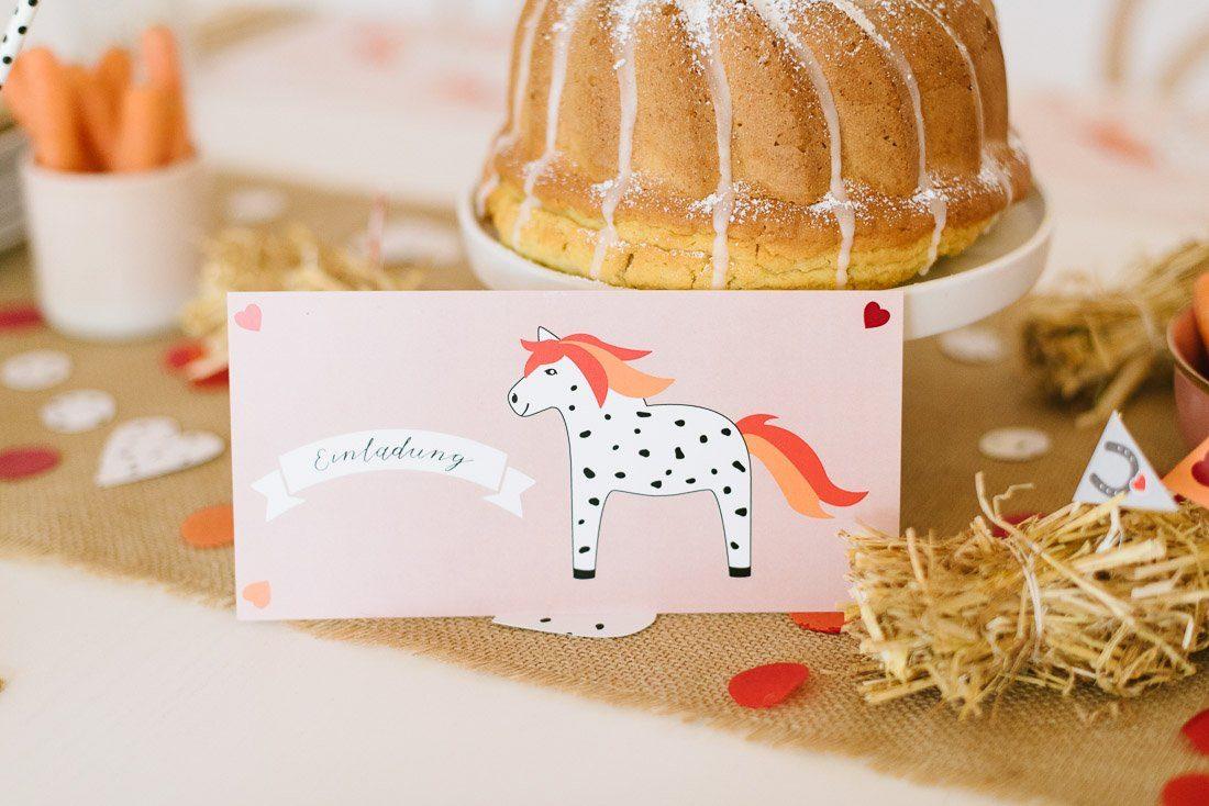 Pferdegeburtstag feiern! Geburtstagsbox für Kindergeburtstag mit Pferden und Ponys. Deko für die Geburtstagsparty für alle Pferdenarren.