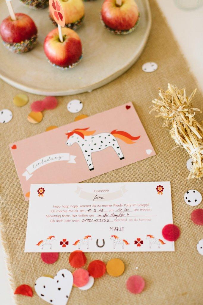 Einladungskarten Pferdeparty Kindergeburtstag