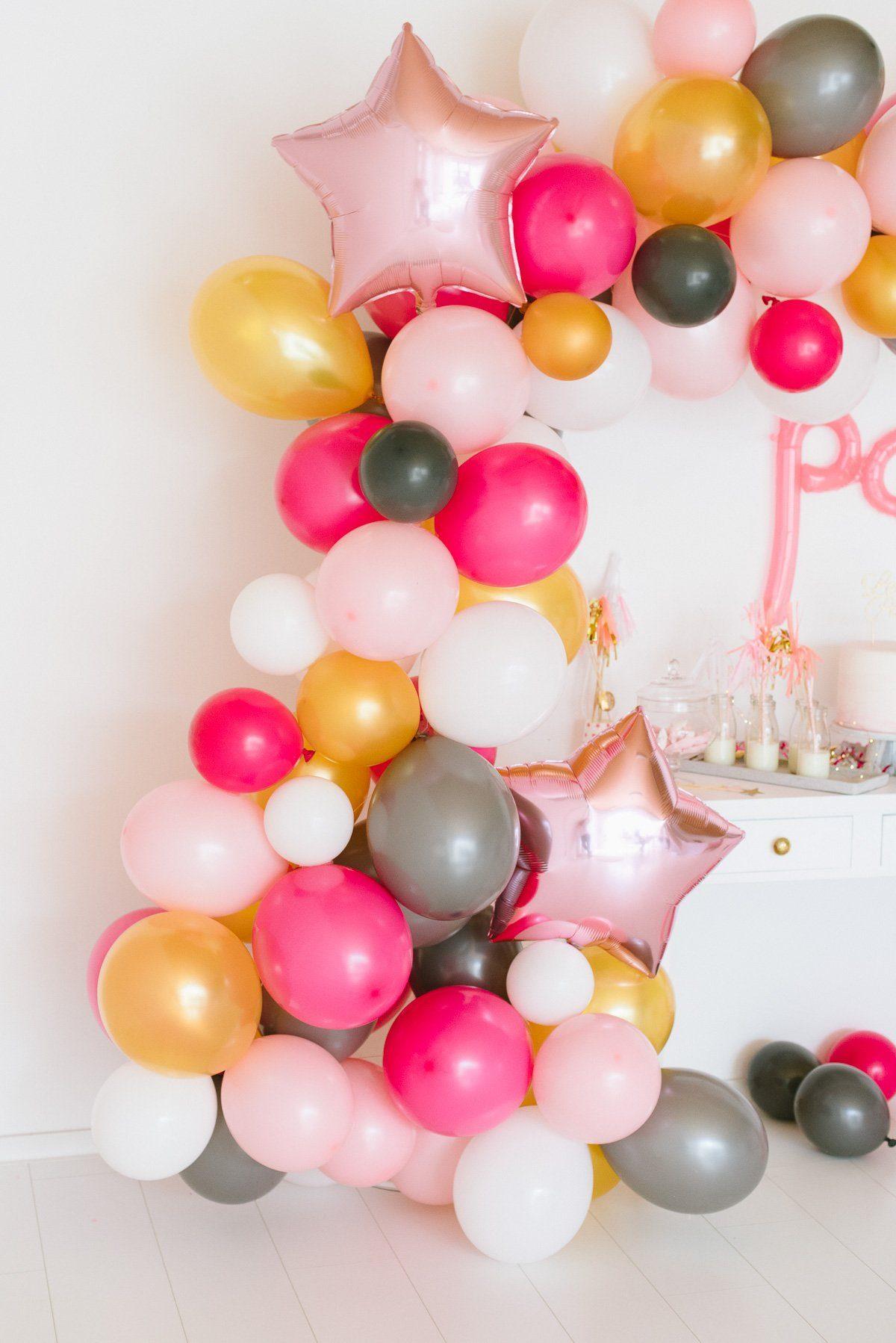 Schritt für Schritt DIY Anleitung für die Luftballon Girlande im Handumdrehen. Inkl. Einkaufsliste - für den Hingucker auf eurer Party