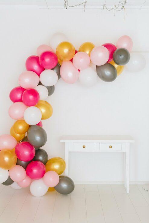 Ballon Girlande pink rosa