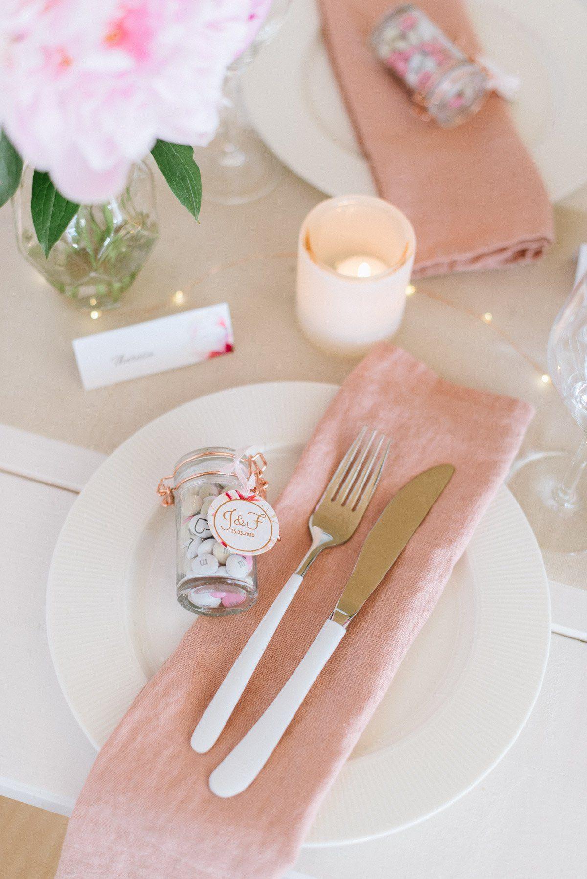 Gastgeschenk im Glas mit Roségoldem Verschluss