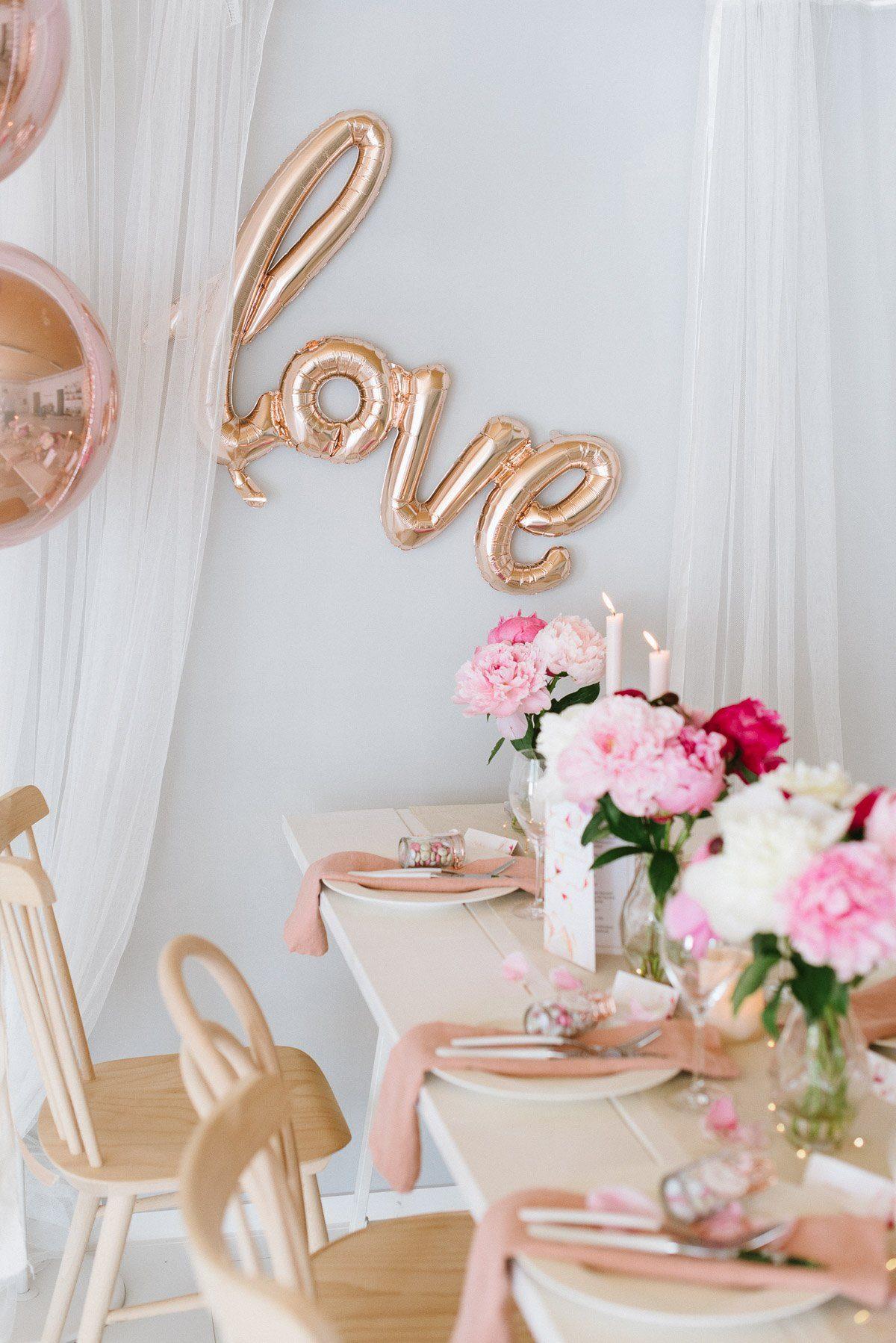 Love Script Ballon roségold