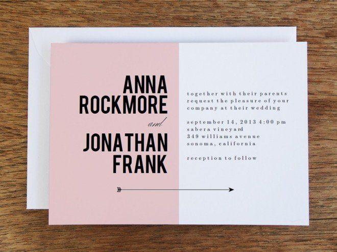 hochzeitseinladung-modern rosa zum selbst gestalten und ausdrucken