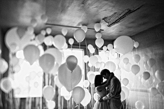 Ein Engagement-Shooting mit Ballons