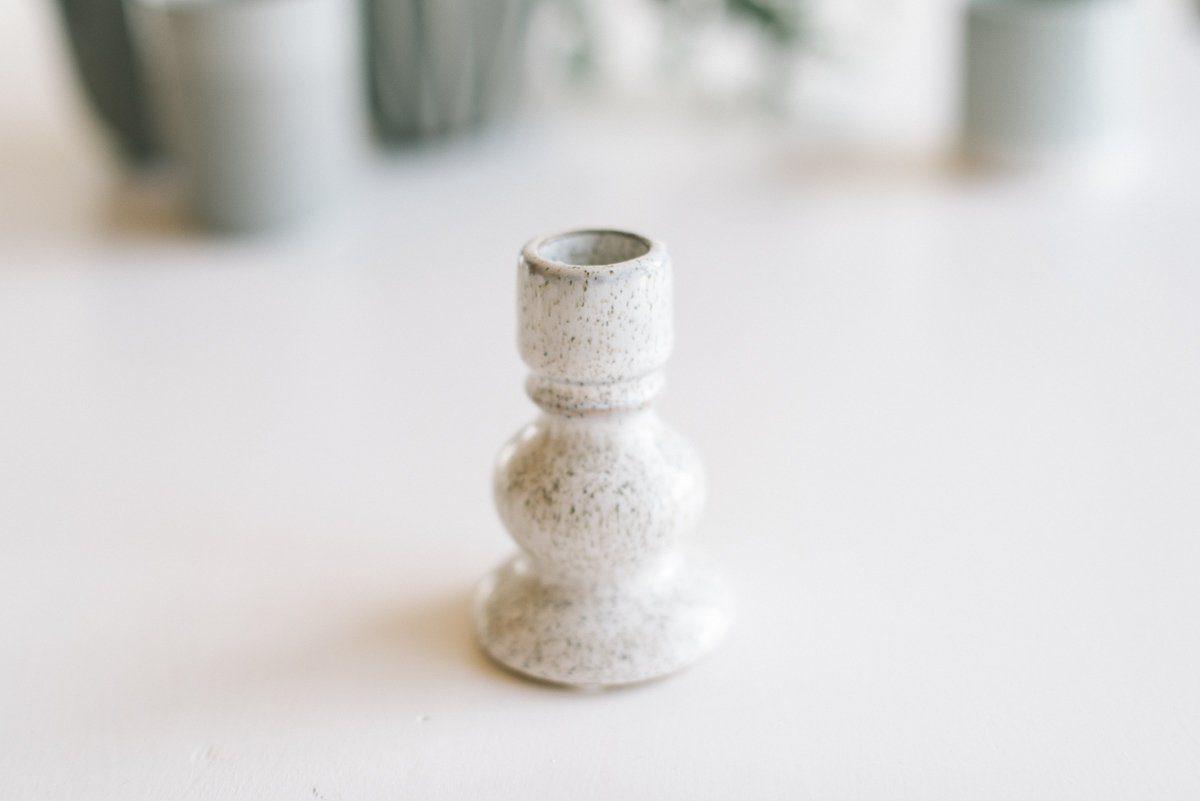 Kerzenhalter weiß steinware höhe 9 5cm fräulein k. sagt ja partyshop