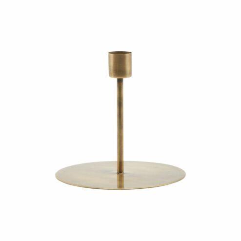Kerzenständer aus Messing mit Eisen Look, Farbe Gold
