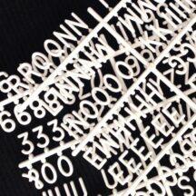 Große Steckbuchstaben Letterbaord