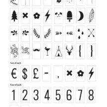 lightboxNummern und Symbole Set * Frl. K sagt Ja