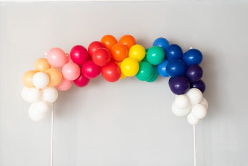 Luftballongirlande Regenbogen-1