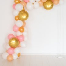 Luftballongirlande gold weiß rose