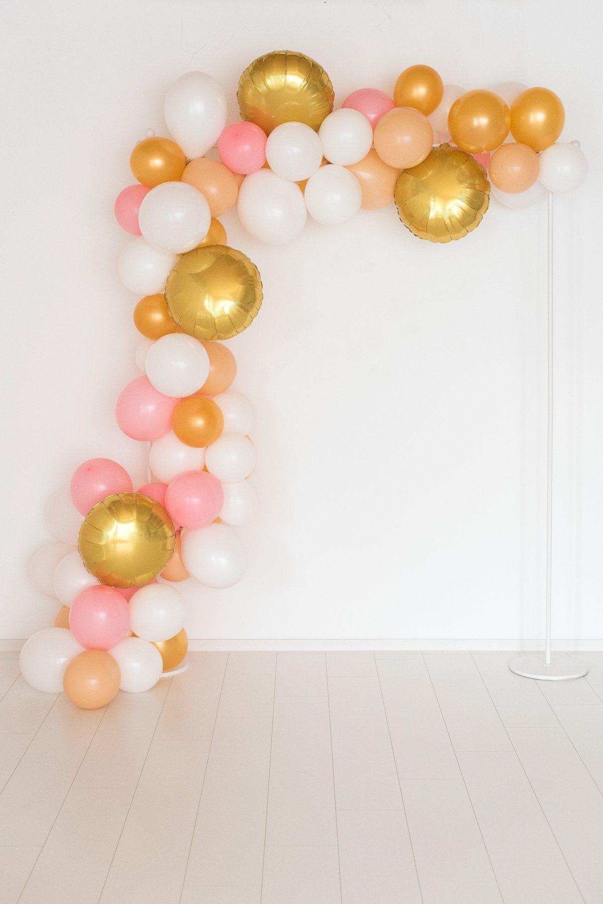 ballongirlande wei blush gold fr ulein k sagt ja partyshop. Black Bedroom Furniture Sets. Home Design Ideas
