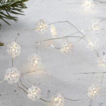 LED Lichterkette mit eingebetteten Schneeflocken, Länge 3 Meter