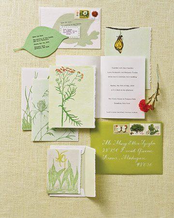 Ein 'botanisches' Hochzeitskonzept